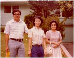 1977年學加我與婆婆合影於堪薩斯