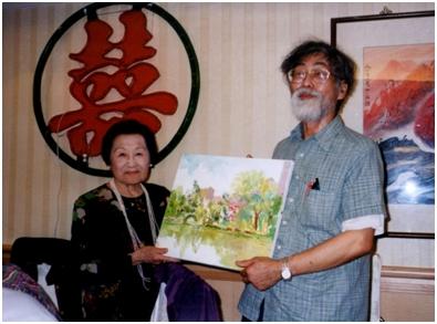 2002年婆婆八十大壽楊維哲贈送其父親楊啟東繪畫