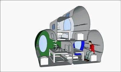 威廉斯設計的移動艙有自動供水和發電系統