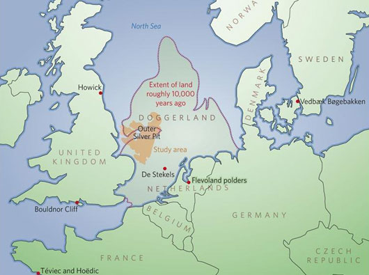 Figure 2 Ice Age Doggerland Map