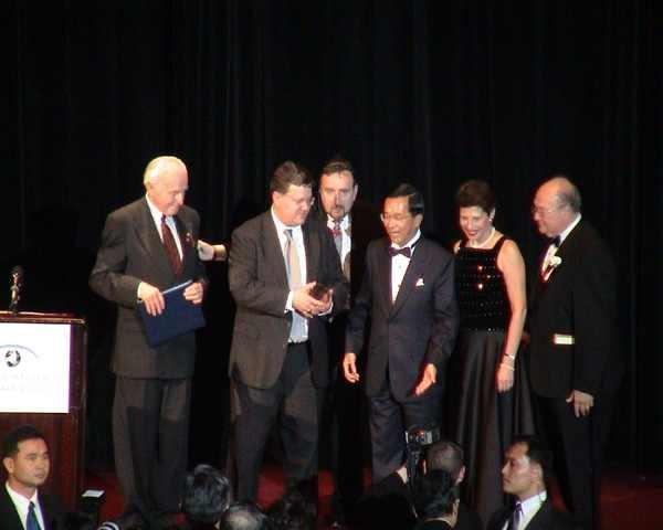 陳水扁紐約接受國際人權聯盟頒獎1