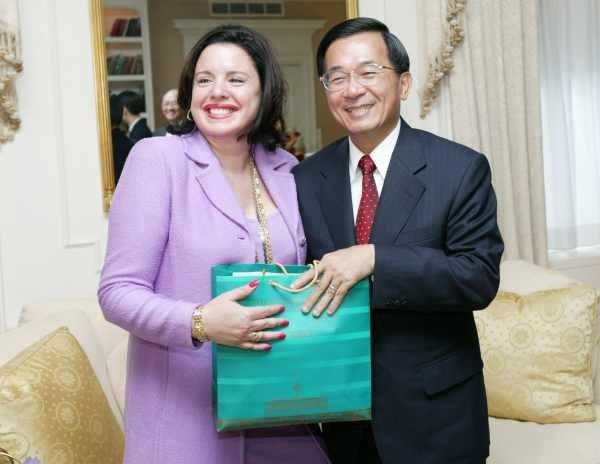 陳水扁紐約接受國際人權聯盟頒獎11