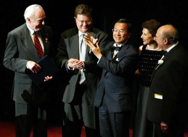 陳水扁紐約接受國際人權聯盟頒獎2