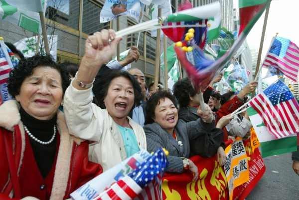 陳水扁紐約接受國際人權聯盟頒獎6