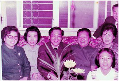 作者夫婦(左2,3)和大姊陳連子(左4) 合影