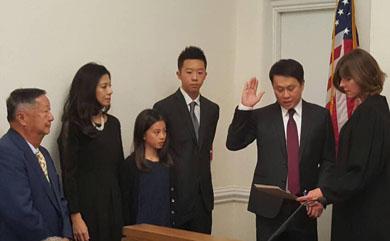 黃文谷宣誓