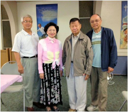 右起陳惠亭、黃森元、吳陳信愛、楊豐明。(太平洋時報檔案照)