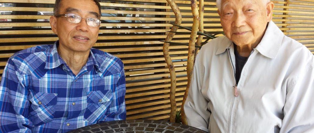 陳錫清(右)和鄭炳全會長攝於Walnut